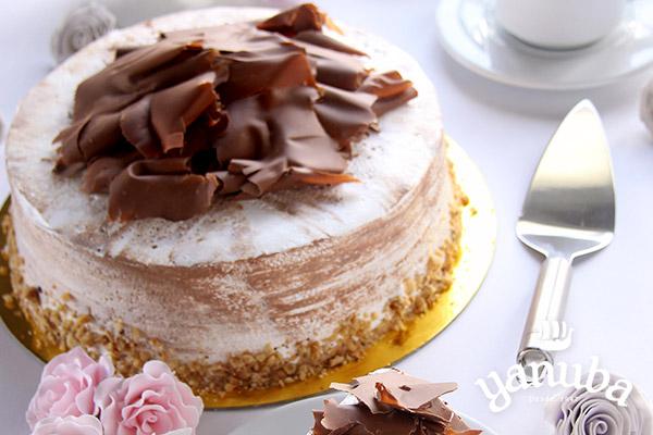 Torta de chocolate arequipe y nueces