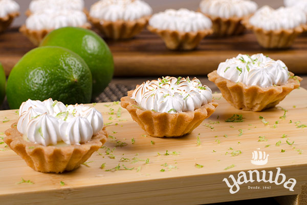 Mini pie de limón