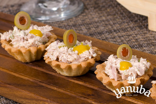 Mini tartaletas de pollo